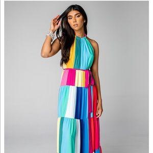 NWT Buddy love Halter Maxi Dress